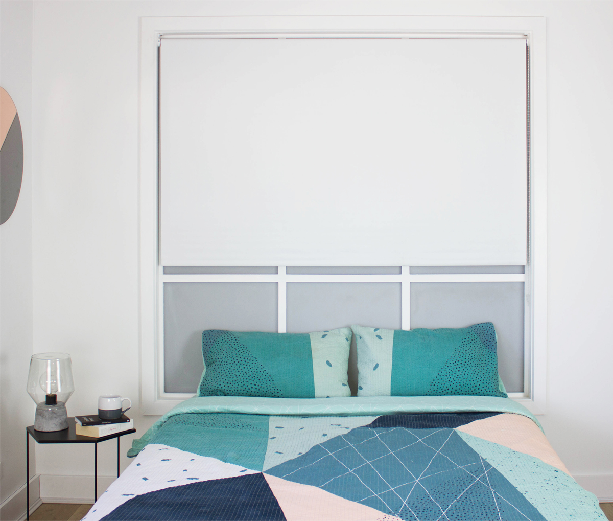 Charm White Blockout Roller Blind Smart Home Products