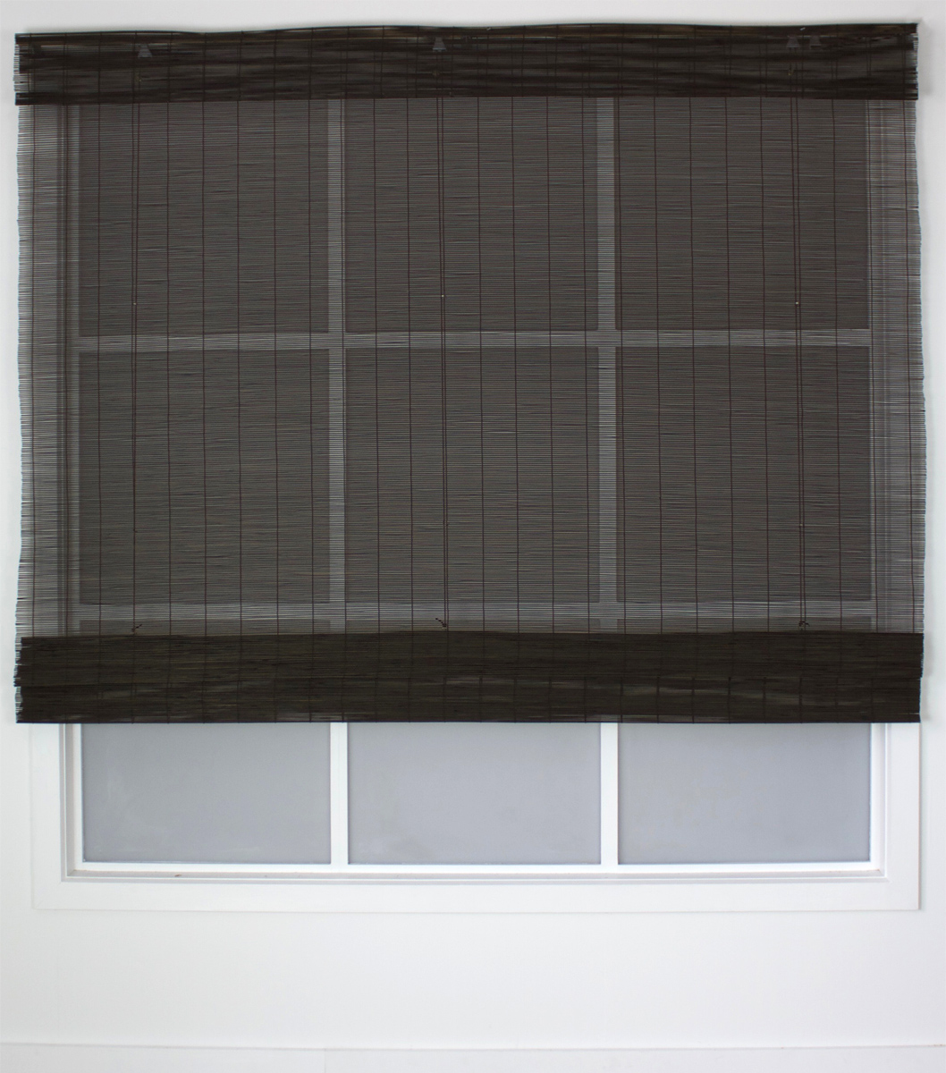 Matchstick Bungalow Roller Blind Mahogany Smart Home