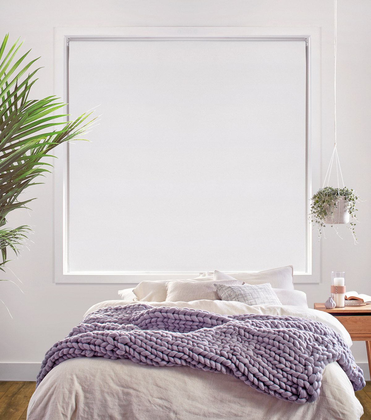 <b> Charm White</p><p></b> Blockout Roller Blind