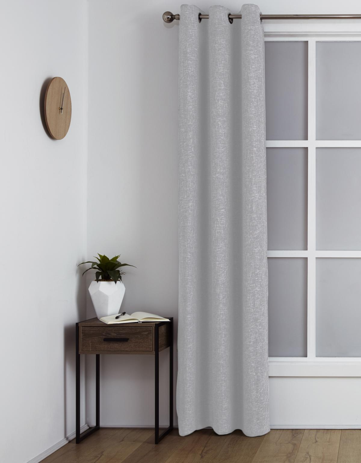 <b>Room Darkening Eyelet Curtain</p><p></b>Maine Steel